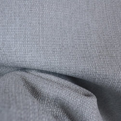 Stetson Light Grey Upholstery Fabric - Stetson Light Grey solid textured upholstery fabric.  Great textured grey upholstery fabric with a soft face and a backing for added strength and durability.  Great for covering a chair, sofa or ottoman but can also be used for pillows a cornice board or a headboard in the bedroom.  You can pair it with other patterns such as florals or geometrics and use it as an accent in a room or as the main focus. The heavy textured face would give you project extra interest with overwhelming a room.