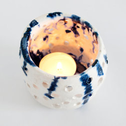 Small Abstract Candleholder by Kim Legler - These abstract candleholders are beautiful. I can picture them glowing on a mantel, mixed in with either rustic or modern pieces.