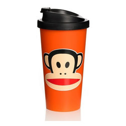 Paul Frank - PAUL FRANK To Go Cup, Orange - Our Paul Frank Cup To Go in Orange is perfect for keeping your favourite drink warm the time you are at work, school or out for a picnic with family or friends. Be center of attraction within your group using this cup for coffee, tea or hot chocolate.