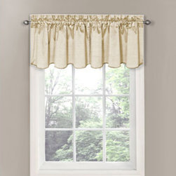 Eclipse - Canova Ivory Blackout Window Valance - - Experience the silence, darkness, and beauty of Eclipse? curtains -- a collection of energy-saving, noise-reducing, blackout curtains where function meets style.   - Eclipse thermal curtains are designed to block out over 99% of light and reduce unwanted noise so you can get a better night?s sleep.   - The magic is in the Thermaback construction.   - The innovative foam-back technology blocks out noise and cool drafts while conserving heat.   - These modern foam-backed thermal curtains provide the ultimate in blackout performance, while helping you save money on heating and cooling your home.   - Perfect for living room, dining room, nursery or kids? room to help reduce unwanted light and noise.   - National Sleep Foundation studies show that blocking unwanted light and noise while you sleep helps create the optimal sleeping environment.   - Instantly update your home d�cor with an exciting pop of color on your windows.   - Hang two or more window valances with coordinating panels on a standard or decorative rod for desired look.   - 3? rod pocket fits up to a 2 1/2? rod with 1 1/2? decorative topper.   - Coordinating curtain panel sold separately.   - Sold as a single valance measuring 42?W x 21L.   - Rods sold separately.   - Polyester/Cotton, Machine wash, tumble dry, do not bleach.   - Imported.   - Valance only. Eclipse - 10299042X021IV