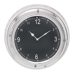 Benzara - Elegant and Circular Metal Wall Clock with Nickel Plated Frame - Elegant and Circular Metal Wall Clock with Nickel Plated Frame. Sporting an elegant circular nickel plated frame, this wall metal clock is the epitome of modern taste and will be a perfect addition to your interior home decor. The dimensions of the metal wall clock are 14 x 5 x 14. Some assembly may be required.