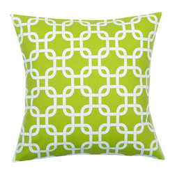 Look Here Jane, LLC - Gotcha Lime Pillow Cover - PILLOW COVER