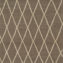 """Loloi Rugs - Loloi Rugs Adler Collection - Taupe, 9'-3"""" x 13' - The Adler Collection pushes traditional flat-weaves to new heights. Its innovative high/low texture elevates the wool to form a pronounced pattern and faintly Moroccan style look. Hand-woven of 100% wool in India, Adler is available in a cool, on trend set of neutral colors."""