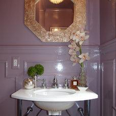 Traditional Powder Room by Jenkins Baer Associates