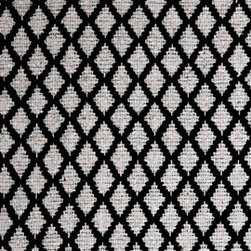 Hook & Loom Rug Company - Interlaken Black/Grey Rug, Black/Grey, 2'x3' - Very eco-friendly rug, hand-woven with yarns spun from 100% recycled fiber.  Color comes from the original textiles, so no dyes are used in the making of this rug.  Made in India.