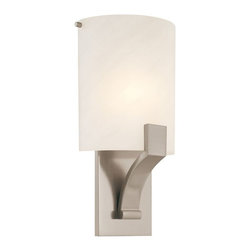 Sonneman Lighting - Sonneman Lighting 1851.13F Greco Sconce In Satin Nickel - Sonneman Lighting 1851.13F Greco Sconce In Satin Nickel