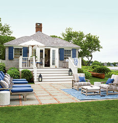 Before and After: Cottage Backyard Deck < 50 Beautiful Coastal Befores & Afters
