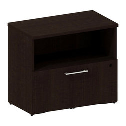 BBF - Bush 300 Series 1-Drawer Lateral File in Mocha Cherry - Bush - Filing Cabinets ...