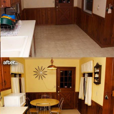 Amber's 1961 knotty pine kitchen before and after Retro Renovation - Retro Renov