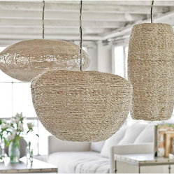 Regina Andrew Apple, Saucer and Cigar Jute Pendants