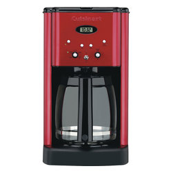 Cuisinart - Cuisinart Brew Central 12-Cup Programmable Coffeemaker. Red - 12-cup carafe with ergonomic handle, dripless spout and knuckle guard