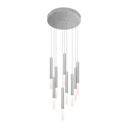 "Sonneman - Sonneman Wands 9-Light LED Round Pendant Light - The Wands 9-Light LED Round Pendant Light by Sonneman has been designed by Robert Sonneman.The Wands 9-Light LED Round Pendant Light consists of 9 LED wands suspended from a circular, polished chrome canopy. Each wand contains an LED lamp, softly diffused by a white-etched, acrylic cylinder. Includes 10 foot adjustable cord. Dimmable with ELV or standard (TRIAC) incandescent dimmer.  Product description:  The Wands 9-Light LED Round Pendant Light by Sonneman has been designed by Robert Sonneman.The Wands 9-Light LED Round Pendant Light consists of 9 LED wands suspended from a circular, polished chrome canopy. Each wand contains an LED lamp, softly diffused by a white-etched, acrylic cylinder. Includes 10 foot adjustable cord. Dimmable with ELV or standard (TRIAC) incandescent dimmer.  Details:      Manufacturer:     Sonneman      Designer:    Robert Sonneman        Made in:    USA        Dimensions:     Height:11.75"" (29.85 cm) X Diameter:1"" (2.54cm)  Overall:Diameter:20"" (50.8 cm)      Light bulb:  9 X LED Max 124W Overall Wattage         Material:      aluminum, metal, acrylic, polymer"