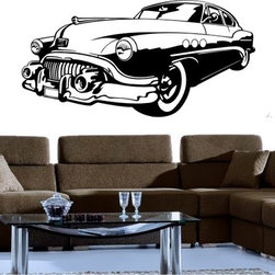 StickONmania - Retro Car Design Sticker - A nice vinyl sticker and wall art design for your home  Decorate your home with original vinyl decals made to order in our shop located in the USA. We only use the best equipment and materials to guarantee the everlasting quality of each vinyl sticker. Our original wall art design stickers are easy to apply on most flat surfaces, including slightly textured walls, windows, mirrors, or any smooth surface. Some wall decals may come in multiple pieces due to the size of the design, different sizes of most of our vinyl stickers are available, please message us for a quote. Interior wall decor stickers come with a MATTE finish that is easier to remove from painted surfaces but Exterior stickers for cars,  bathrooms and refrigerators come with a stickier GLOSSY finish that can also be used for exterior purposes. We DO NOT recommend using glossy finish stickers on walls. All of our Vinyl wall decals are removable but not re-positionable, simply peel and stick, no glue or chemicals needed. Our decals always come with instructions and if you order from Houzz we will always add a small thank you gift.