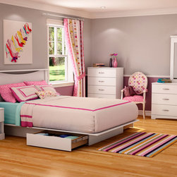 Step One Platform Bedroom Set in Pure White - I think this bedroom may be a good purchase for girls. The bedroom in gentle pink color. The Step One Platform Bedroom Set in Pure White is gorgeous addition to contemporary homes. The set includes: Full/Queen size platform bed, Nightstand, Dresser and coordinating Mirror.