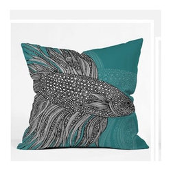 Valentina Ramos Beta Fish Throw Pillow