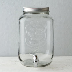 Mason Jar Beverage Dispenser - This is simple and charming, just like the canning jar the design is based on. I would keep this drink dispenser stocked with iced water with lemon slices and sprigs of mint. Or set it on the porch and brew up a batch of sun tea.