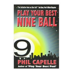Sterling Gaming - Phil Capelles Play Your Best Nine Ball Billia - Big book with 480 pages and 470 diagrams. Chapters on shot-making, breaking, position play, pattern play, running out, safety play, practicing, and lots more. Over 140 of the diagrams are of shots taken by top professionals in competition. Weight: 1 lbs.