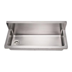 Whitehaus - Whitehaus Whncmb4413 Noah's Sink Brushed - commercial utility sink