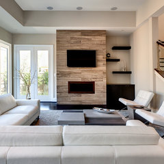 contemporary living room by Frankel Building Group