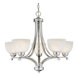 """Minka Lavery - Minka Lavery ML 1425 5 Light 23.5"""" Height 1 Tier Chandelier from the Paradox Col - 23.5"""" Height Five Light Single Tier Chandelier from the Paradox CollectionFeatures:"""