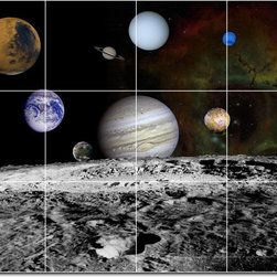 Picture-Tiles, LLC - Planets Photo Backsplash Tile Mural 27 - * MURAL SIZE: 24x32 inch tile mural using (12) 8x8 ceramic tiles-satin finish.
