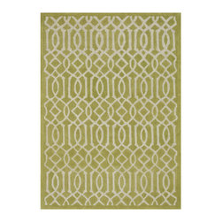 Loloi - Loloi Rugs Brighton Apple Green Hand Tufted Wool Rug - The Loloi Brighton rug lends the modern living room geometric grandeur. In shades of apple green, the floor covering's lively linear pattern presents a striking statement. 100% wool; Hand tufted; Rug pad recommended; Vacuum regularly and clean with common wool cleaning detergent; Sample size available