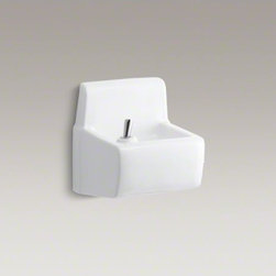 KOHLER - KOHLER Millbrooke(TM) wall-mounted drinking fountain - The Millbrooke wall-mount drinking fountain offers a streamlined, wall-mount design suitable for users of all capabilities, and is available in a palette of KOHLER colors to complement any d�cor.  This space-saving drinking fountain is designed for easy m