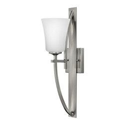 Hinkley Lighting - Hinkley Lighting 4700BN Valley 1-Light Wall Sconce in Brushed Nickel - Hinkley Lighting 4700BN Valley 1-Light Wall Sconce in Brushed Nickel