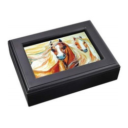 Westland - Sundance Moonbeam Horses Music Box Photo Frame with Black Edges - This gorgeous Sundance Moonbeam Horses Music Box Photo Frame with Black Edges has the finest details and highest quality you will find anywhere! Sundance Moonbeam Horses Music Box Photo Frame with Black Edges is truly remarkable.