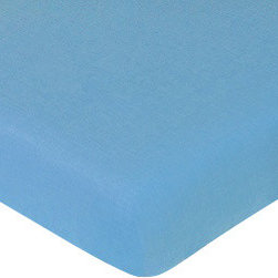 Sweet Jojo Designs - Surf Blue Crib & Toddler Sheet - The Surf Blue fitted crib sheet will help complete the look of your Sweet Jojo Designs nursery. This Surf Blue cotton sheet fits all standard crib and toddler mattresses and is machine washable for easy care.