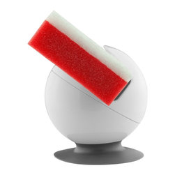"""Casabella - Get a Grip Sponge and Scrubber Holder - Get A Grip Sponge and Scrubber Holder with Suction Grip Base Suction cup base grips securely to sink wall or counter top Ventilated bottom helps dry sink tools Keeps counters clear of damp sponges Measures 3.25"""" x 3"""" diameter White with grey base"""