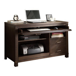 Riverside Furniture - Riverside Furniture Promenade Computer Desk in Warm Cocoa - Riverside Furniture - Computer Desks - 84531 - Riverside's products are designed and constructed for use in the home and are generally not intended for rental, commercial, institutional or other applications not considered to be household usage.