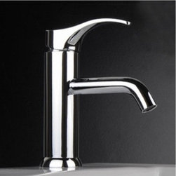 Chrome Finish Single handle Cold and Hot Bathroom Sink Faucet - Chrome Finish Single handle Cold and Hot Bathroom Sink Faucet
