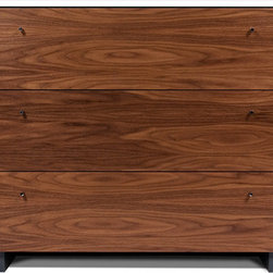 Spot on Square - Spot on Square - Roh Dresser Walnut/White - The Roh collection by Spot On Square is every modernists dream. The generously sized, walnut dresser will have parents considering a set for their own bedroom as well. A removable changing tray is available. This premium collection by Spot On Square raises the bar with innovation of design and material.