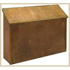 Traditional Mailboxes Antique Brass Horizontal Standard Mailboxes