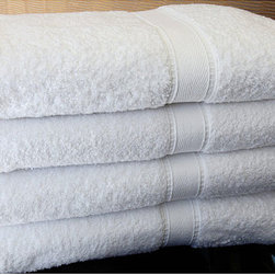 None - Authentic Hotel and Spa Turkish Cotton Bath Towel (Set of 4) - Bring the feel of a luxurious hotel spa into your own bathroom when you use these white cotton bath towels. The plush towels are constructed of 100 percent Turkish cotton. One set includes four solid white towels measuring 27 x 54 inches.