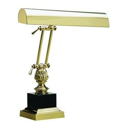 House of Troy - House of Troy P14-246 14 Inch /Black Piano/Desk Lamp In Polished Brass - House of Troy P14-246 14 Inch /Black Piano/Desk Lamp In Polished Brass