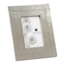 "Lazy Susan - Royal German Silver Frame - -Use 4""X 6"" Photo"