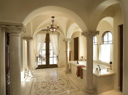 mediterranean bathroom by LA Signature Home Interiors