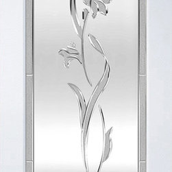 Tulip - These doors are available at Lowe's.  They can be special ordered to be at the store in 10 days in many cases.  Some designs will take 28 Days to arrive at the store.  They are shown in Primed rims but can also be ordered in Pine, Knotty Pine, Knotty Alder, Fir, Oak, Cherry, Maple, and Mahogany.  Ask your local Lowe's Associate for ordering details today!!!