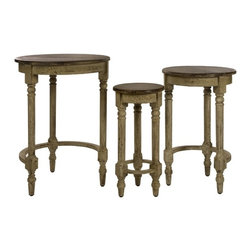 "IMAX CORPORATION - Antique Inspired Nesting Tables - Set of 3 - Antique Inspired Nesting Tables. Set of 3 tables in varying sizes measuring approximately 20.75-23.5-26.5""H x 9.25-14.5-20""D each. Shop home furnishings, decor, and accessories from Posh Urban Furnishings. Beautiful, stylish furniture and decor that will brighten your home instantly. Shop modern, traditional, vintage, and world designs."