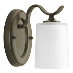 Progress Lighting - Progress Lighting P2018-20 Inspire Single Light Bathroom Sconce Antique Bronze - Features: