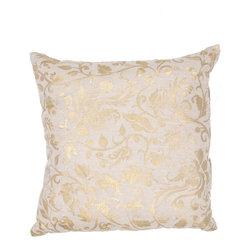 JRCPL - Handmade Linen 20x20-inch Throw Pillow - Handmade Ivory/ White/ Yellow/ Gold Linen (20''x20'') Pillow
