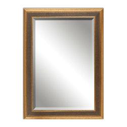 Antiqued Gold Leaf Mirror with Dark Gray Wash - Antiqued Gold Leaf Mirror with Dark Gray Wash