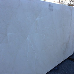 Royal Stone & Tile Slab Yard in Los Angeles - Levante Limestone in slab and tile format at Royal Stone & Tile