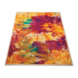 Grandin Road - Madeline Indoor Area Rug - 2' x 3' - A show-stopping, low-profile rug that's art for your floor, and a great value. Color space-dying technique creates bold and vibrant hues for a stunning watercolor look. 100% polypropylene. Power-loomed and cut construction. Extend the life of your rug with a Nonslip Rug Grip (sold separately). With a floral design inspired by watercolor paintings, our vibrant Madeline Rug turns any floor into a work of art. A show-stopping, low-profile rug that's art for your floor, and a great value .  .  .  .  . Imported.