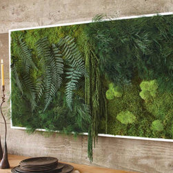Fern and Moss Wall Art - Yes, this is real! It's a beautiful, living piece of art. I'm sure it would be a complete showstopper hanging on your wall.