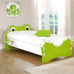 Legare Frog Twin Toddler Bed - I don't love it, but I know a certain little boy that definitely would. It's so fun!