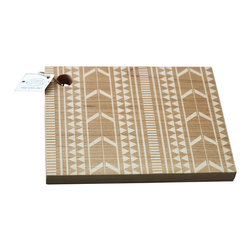 Richwood Creations - Solid Wood Aztec Tribal Pattern Cutting Board, Maple, 11x8.5 - This laser engraved tribal pattern is a unique style of cutting board. Add some flare to your kitchen with a piece of handmade fashion! Available in cherry or maple wood, and also various sizes.