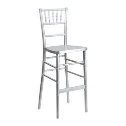Flash Furniture - Flash Furniture Wood Chiavari Bar Stool in Silver - Flash Furniture - Bar Stools - SZSILVERBARGG - Chiavari bar stools are becoming widely popular as more bar height tables are being introduced in the event world. Coordinate your Chiavari chairs with this attractive wood chiavari bar stool.
